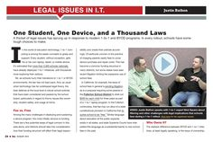 Legal issues around BYOT Bring Your Own Device, Mobile Learning, Educational Technology, No Response, Student, Teaching, School, August 2013, Cod