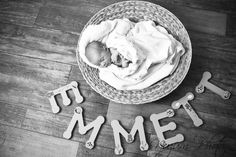 Cute idea - I just got the most adorable letters to hang on the nursery wall! I guess we'll have to take them down and get a picture with them!