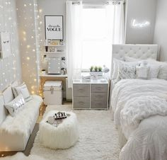 bedroom decor for small rooms ~ bedroom decor ; bedroom decor for couples ; bedroom decor ideas for women ; bedroom decor for small rooms ; bedroom decor ideas for couples ; Teenage Room Decor, College Room Decor, Bedroom Decor For Teen Girls, Room Ideas Bedroom, Small Room Bedroom, Master Bedroom, Small Bedroom Ideas For Teens, Cool Bedroom Ideas, Bedroom With Couch