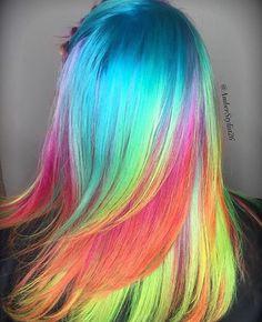 Rainbow hair. So cool!