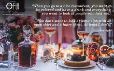 """When you go to a nice restaurant, you want to be relaxed and have a drink and everything, you want to look at people who look wellYou don't want to look at some slob with an open shirt and a hairy chestAt least I don't."" — Iris Apfel  #Fashion #Style #Lifestyle #Inspiration #Beautiful #Trends #Truth #Social #nature   http://www.oaklandfashionweek.org/"
