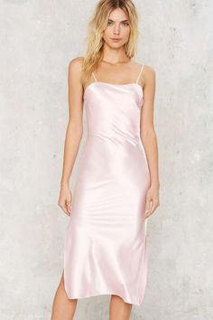 Dyspnea Gold Digger Pom Pom Slip Dress - Pink - Going Out | Midi + Maxi | Anti-Prom | All Party