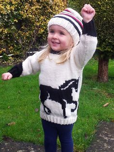 Horse Child's Sweater and Hat Aran Knitting by iKnitDesigns, £2.99