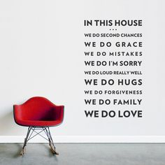 We Do Love Wall Quote Decal - Family Rules Decal, Motivational Wall Quote, Family Wall Sticker, Living Room Wall Decal, In This House Quote Wall Quotes, Me Quotes, Motivational Quotes, Inspirational Quotes, Rules Quotes, Famous Quotes, Great Quotes, Quotes To Live By, Family Rules