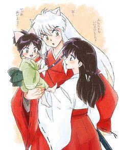 【★】~ Artist's website Love how Moroha's holding on to Inuyasha's hair and the kotodama beads. Sesshomaru Y Rin, Inuyasha Fan Art, Inuyasha And Sesshomaru, Kagome And Inuyasha, Kagome Higurashi, Inuyasha Funny, Anime Shojo, Manga Anime, Corpse Party