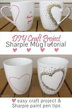 Introduce some West Elm style into your décor for a fraction of the price (55% off!) with this DIY craft project. In just a few minutes you'll have a custom Catch All Tray that looks like a romantic love letter with this easy Sharpie Plate Tutorial. http://brendid.com/diy-craft-project-sharpie-mug-tutorial/