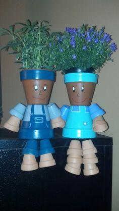 Clay pots people