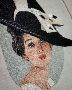 Добрый день! Совсем скоро будет новая брошь. ❤ Процесс.. . . . . #вышивка #ручнаявышивка #ручнаяработа #портрет #девушка #брошь_портрет #вдохновение #авторскиеукрашения #брошьпортрет #вышивкагладью #рукоделие #творчество #брошь #embroidery #jewelry #beautiful #brooch #fashion #art #girls #handmade #style #beautiful #елена_щербинская Textiles, Embroidery Art, Embroidery Designs, Art Textile, Thread Painting, Painting People, Ribbon Work, Brooches Handmade, Expo