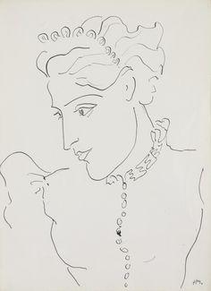 Henri Matisse (1869-1954) Portrait De Femme 1937 (38,3 x 28,1 cm)