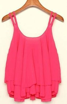 Loose-Fit Sleeveless Chiffon Tank Top (More Colors Available)