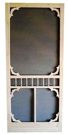 "Colonial Oval Wood Swinging Screen Door 36"" W x 80"" H at Menards"