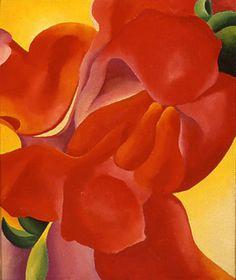 赤いカンナジョージア·オキーフ、1923アートは時間の証人である... #のDayafterart のhttp:// bit.ly/18GCSaj