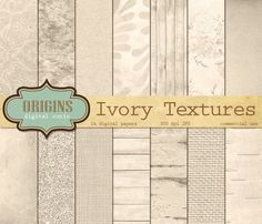Ivory Textures Digital Paper by Origins Digital Curio on @creativemarket