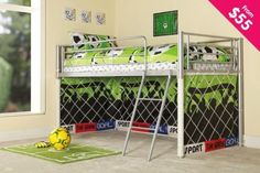 this is awesome... if i had this bed i wouldn't get yelled at so much for kicking the ball at the cupboards