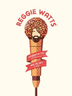 Reggie Watts Sasquatch Music Festival Poster by DKNG