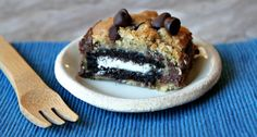 Have You Ever Had An Oreo Stuffed With Chocolate Chips And Drizzled With Caramel Sauce?