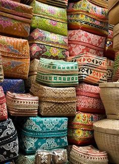 Traditional balinese offering baskets. I bring them back to Australia and use…