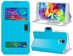 Funda Flip Cover Tipo Libro Con Ventana Para Telefono Samsung Galaxy S5 i9600 - http://complementoideal.com/producto/funda-tipo-libro-con-doble-ventana-para-samsung-galaxy-s5-i9600/  - Con la Funda Tipo Libro Con Doble Ventana Para Samsung Galaxy S5 i9600 tendrás una protección total del tu teléfono móvil, ya que protege tanto delante como la parte de atrás de esta forma tendrás protección 100% del dispositivo. Diseñada exclusivamente para Samsung Galaxy S5 i9600, enc