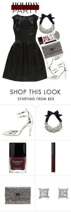 """Holiday Cocktail Party"" by hollowpoint-smile ❤ liked on Polyvore featuring J.Crew, Abercrombie & Fitch, Butter London, NARS Cosmetics, Anya Hindmarch and Ben-Amun"