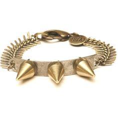 Luv Aj bracelet (see more spike jewelry)