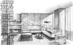 Cheap Home Decoration Stores Referral: 1087111980 Interior Design Renderings, Drawing Interior, Interior Rendering, Interior Sketch, Interior Architecture, Classical Architecture, Perspective Drawing Lessons, Perspective Sketch, Room Sketch