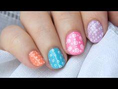 Reto ABC uñas P de PUNTITOS / ABC nail art challenge P for POLKA DOTS - YouTube
