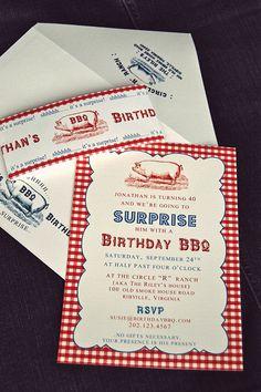 PRINTABLE BBQ Picnic Party Invitation