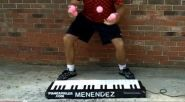 In today's Web Video of the Day: A man plays an electronic keyboard at lighting speed. One catch, though: He's...