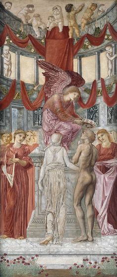 Temple of love, Sir Edward Coley Burne-Jones, Bt