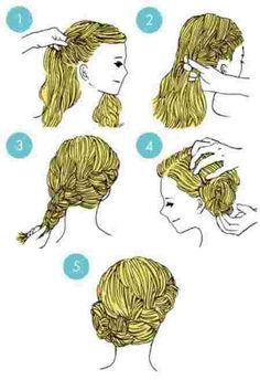 coiffure simple d'une tresse sur le côté