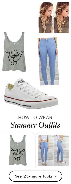 """GiGi"" by quintara213 on Polyvore featuring Converse, women's clothing, women's fashion, women, female, woman, misses and juniors"