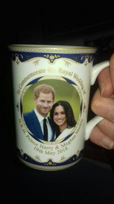 My new Prince Harry and Megan Markle royal wedding cup.