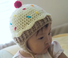 Sweet tooth anyone  This hat is super adorable!!!! My grandmother-in-law  asked me to make one for her friend s baby and it is just too stinking  cute!  . dbbabd1afc9