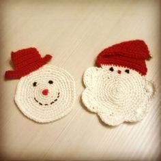 Sottobicchieri natalizi - christmas coasters