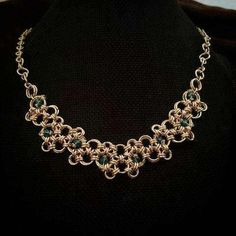 Check out this item in my Etsy shop https://www.etsy.com/listing/502047508/japanese-chainmaille-designer-statement