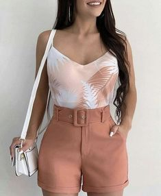 Source by juvenil femenina moda gorditas Belted Shorts Outfits, Summer Shorts Outfits, Trendy Summer Outfits, Bikini Outfits, Cute Casual Outfits, Short Outfits, Spring Outfits, Short Dresses, Girl Outfits