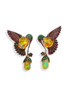 Pendientes de Lydia Courteille with mexican fire opals