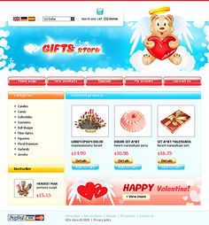 Gifts Presents osCommerce Templates by Nessy
