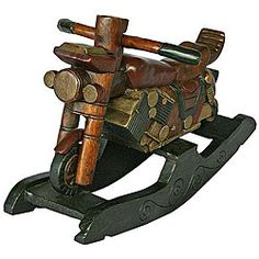 Handmade Decorative Motorcycle Rocking Horse (thailand)