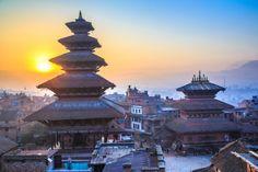 Sunrise at Bhaktapur, Nepal