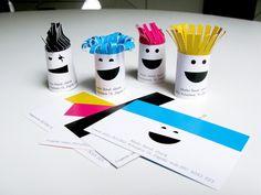 creative minimal business card design inspiration Frizitka - Business card for hairdresser