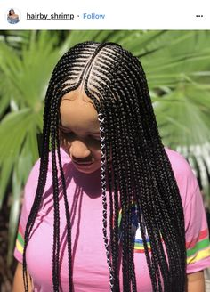 61 Totally Chic And Colorful Box Braids Hairstyles To Wear! Black Girl Braids, Braids For Black Women, Braids For Black Hair, Wavy Hair, Box Braids Hairstyles, Lemonade Braids Hairstyles, Short Braids, Braids Wig, Ghana Braids