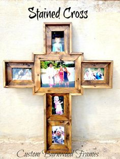 custom barnwood frames large custom cross stained 10000 http