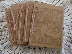 Season's Greetings Cards Handmade Cards Craft by GoldenNestStudio, $6.75