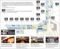 International Boarding Gate Map | Central Japan International Airport