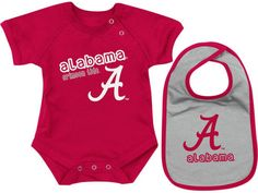 Alabama Crimson Tide Colosseum NCAA Newborn Dribble Creeper Bib Set