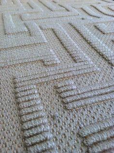 Wool tone-on-tone broadloom carpet