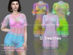 The Sims 4 Oversized Mesh Tees Sims 3, The Sims 4 Pc, Sims Four, Sims 4 Cas, Sims 4 Mods Clothes, Sims 4 Clothing, Female Clothing, Maxis, Sims 4 Traits