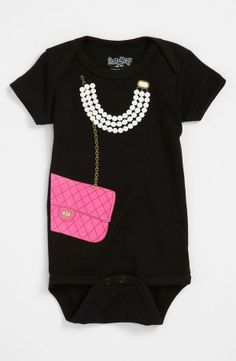 How cute is this onesie for a little lady?