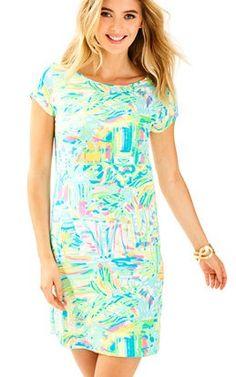 Short Sleeve Marlowe Dress In Sea Salt And Sand: $98